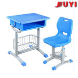 Jy-S101 Marca precio de fábrica Juyi Soplado Aula silla y mesa de plástico de Matel Structruer Silla para niños