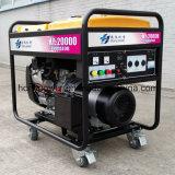 8kw Air-Cooled 2本のシリンダーガソリン発電機(HY12000E)