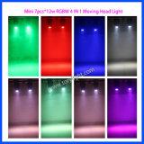 Mini indicatore luminoso mobile della lavata della testa 7PCS*12W RGBW