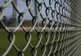 El PVC cubrió la cerca galvanizada cerca de la conexión de cadena de la conexión de cadena