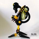 Оптовая труба водопровода Pyrex Handblown стремительная Illuminati боросиликата высокого качества стеклянная с цветами Америка