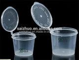 Wegwerfplastiksoße-Cup der Einspritzung-3oz mit eingehängter Kappe