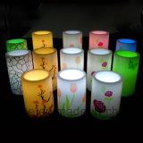 Boda ornamental parpadeante de imitación de baterías de plástico LED velas