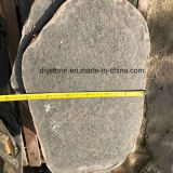 黒い玄武岩の自然な石造りの舗装、タイルを舗装する花こう岩を美化する