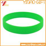 Флуоресцирование резиновый логос Customed браслета Wrisband и силикона (YB-HD-189)