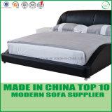 Самомоднейшая шикарная кровать комплекта спальни деревянная кожаный