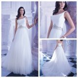 Одно платье венчания T190 Tulle Bridal официально мантий плеча Stock