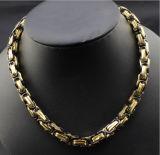 316L de hete het Verkopen Byzantijnse Juwelen van de Halsband van het Staal van het Titanium Vorstelijke Mannelijke (SSNL2650)