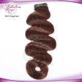 Hellbraunes Haar der weiche und glatte Jungfrau-brasilianisches Karosserien-Wellen-4#