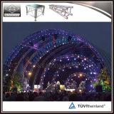 Ферменная конструкция алюминия свода ферменной конструкции крыши крыши напольного этапа изогнутая ферменной конструкцией