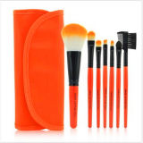 7-Piece Eyeshadow Lip Brush Cosmético Makeup Brush Kit com Bolsa Case