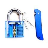 Голубой прозрачной практики с синими замка складной нож необходим навык Lockpicking инструменты (комбинированные 5-1)
