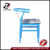 A venda quente V colorido arcaístico suporta o metal que janta a cadeira com coxim macio