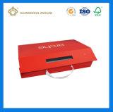 Caixa de presente colorida do papel de impressão do cartão rígido da alta qualidade com punho (2017 novos projetados)