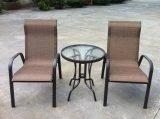 Meubles extérieurs Textilene de patio avec le Tableau de 3 de PCS de jardin présidences de pliage