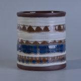 Supporto di candela di verniciatura reattivo con la pittura Pattern&#160 della mano;