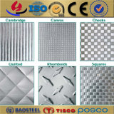 hoja de acero inoxidable grabada diamante perforado decorativo 430 304