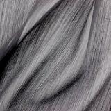 Slivoïde léger tissu de soie polyester ondulée Fashion