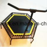Trampolim de saltos de corpo hexagonal interno mini com cabos de tirantes para venda