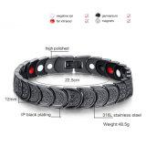 Collegamento Chain di energia del nero sano del braccialetto per gli uomini