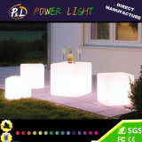 LED-Möbel, die Kubikstuhl beleuchteten LED-Würfel-Stuhl beleuchten
