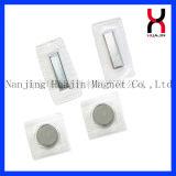 Rectangle PVC boutons magnétiques F18*8*1.5mm pour combinaison de plongée