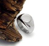 Jóia simples da forma masculina de prata brilhante do aço inoxidável do anel