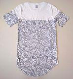 T-shirt de coton estampé par couleur simple