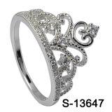 Argento 925 dell'anello di disegno della parte superiore dei monili di modo del nuovo modello