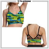 Soutien-gorge sexy de yoga de sports de femmes d'OEM de Spandex fait sur commande en gros de polyester