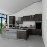 De hoge Houten Keukenkasten van de Verf van het Type van Eiland van het Eind UV