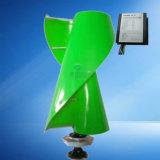 La generadora de energía del viento vertical con el controlador de carga