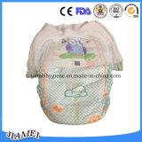 높은 흡수 중국에 있는 처분할 수 있는 아기 바지 기저귀 제조자