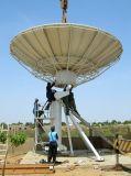 antena satélite fixa de Rxtx da estação de terra de 7.3m