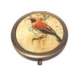 Creatieve Antieke Compacte Spiegel hx-7643 van de Herinnering van het Messing