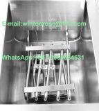 Frigideira elétrica dobro do aço inoxidável com válvula do petróleo