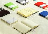 Planificateur fait sur commande de cahier de tourillon de Moleskine de couverture d'unité centrale de la qualité 2016