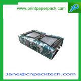 Kundenspezifische steife überzogenes Papier Belüftung-Fenster-Geschenk-Haar-Extensionen, die Kasten verpacken