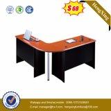 금속 구조 L 모양 멜라민 행정상 책상 사무실 테이블 (HX-G0092)