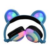 Moda OEM estéreo com fio dos auscultadores de LED para crianças
