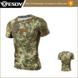 戦術的なスポーツ4枚のカラー通気性のカムフラージュハンチングTシャツ