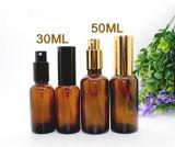 Botella de petróleo esencial verde con el tapón de tuerca negro (EOB-01)