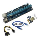 1X To16X 라이저 카드 증량제 케이블 6pin DC-DC USB3.0 PCI-E 광업 증량제 케이블