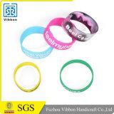 Lustiges Silikon-reflektierende Armbänder mit kundenspezifischer Farbe und Entwurf