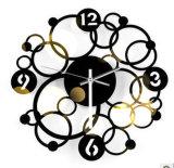 Orologio di parete circolare di Digitahi del metallo dell'anello dell'annata