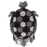 Nova Design Tortoise Rhinestone Clutch Evening Bag Mulheres Bolsas Leb736
