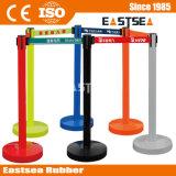 Acciaio inossidabile o pedonale di plastica colorate retrattile coda Cordone di separazione