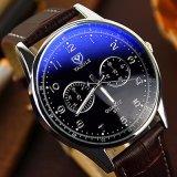 Tira de couro da marca Yazole 311 homens relógio de pulso Relógios de quartzo grossista barata