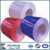 Il colore ha ricoperto la bobina di alluminio di alluminio della lamina di metallo del piatto