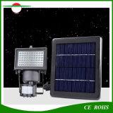 Proyector impermeable al aire libre de la luz de inundación de 3W LED 60LED con el sensor de movimiento y el panel solar ajustable
